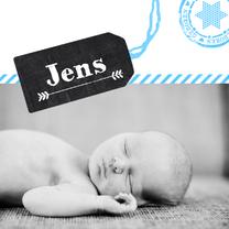 Geboortekaartjes - Geboortekaartje schoolbord label