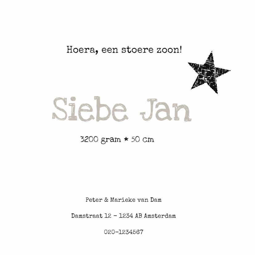 Geboortekaartje Siebe SS 3