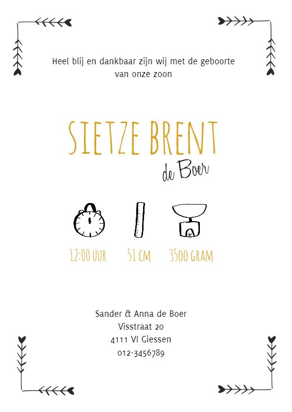 Geboortekaartje Sietze - HM 3