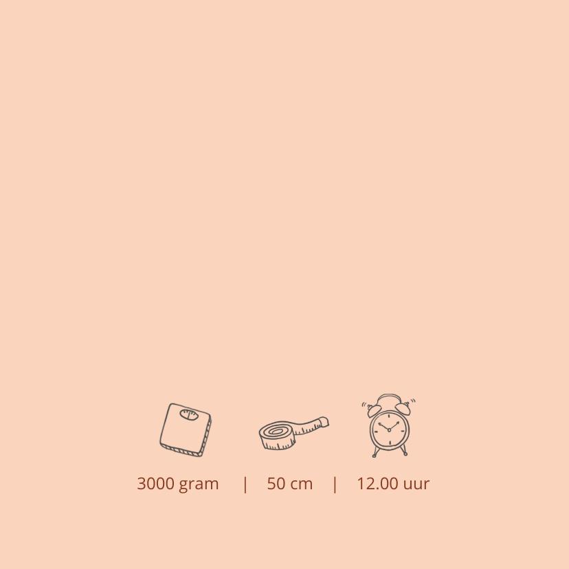 Geboortekaartje silhouet wieg zusje 2