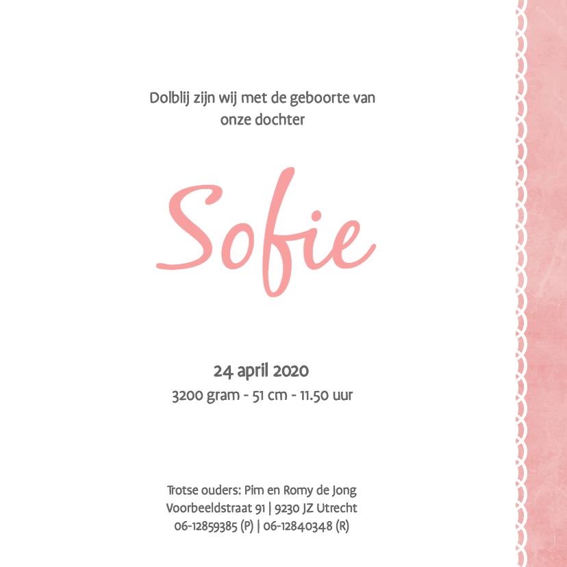 Geboortekaartje Sofie - SK 3
