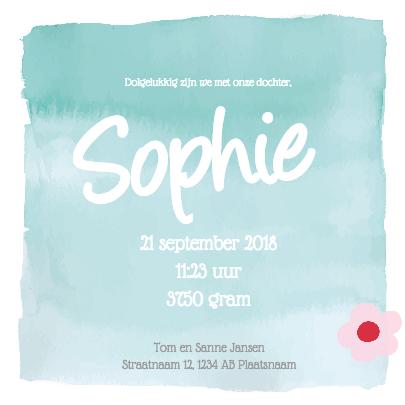 Geboortekaartje Sophie Schaap 3