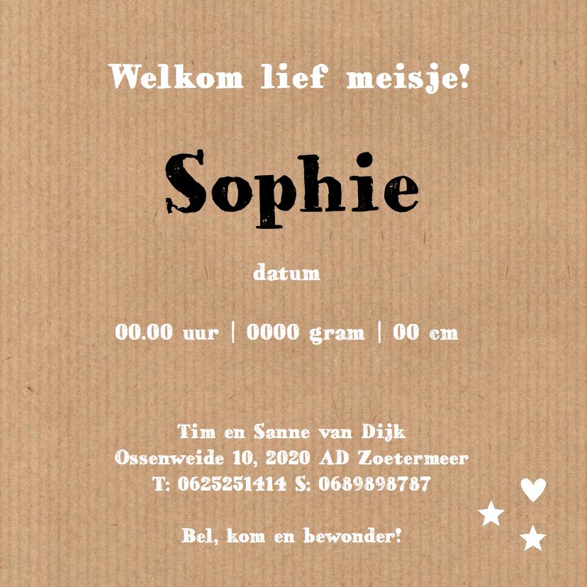Geboortekaartje Sophie wolk LB 3
