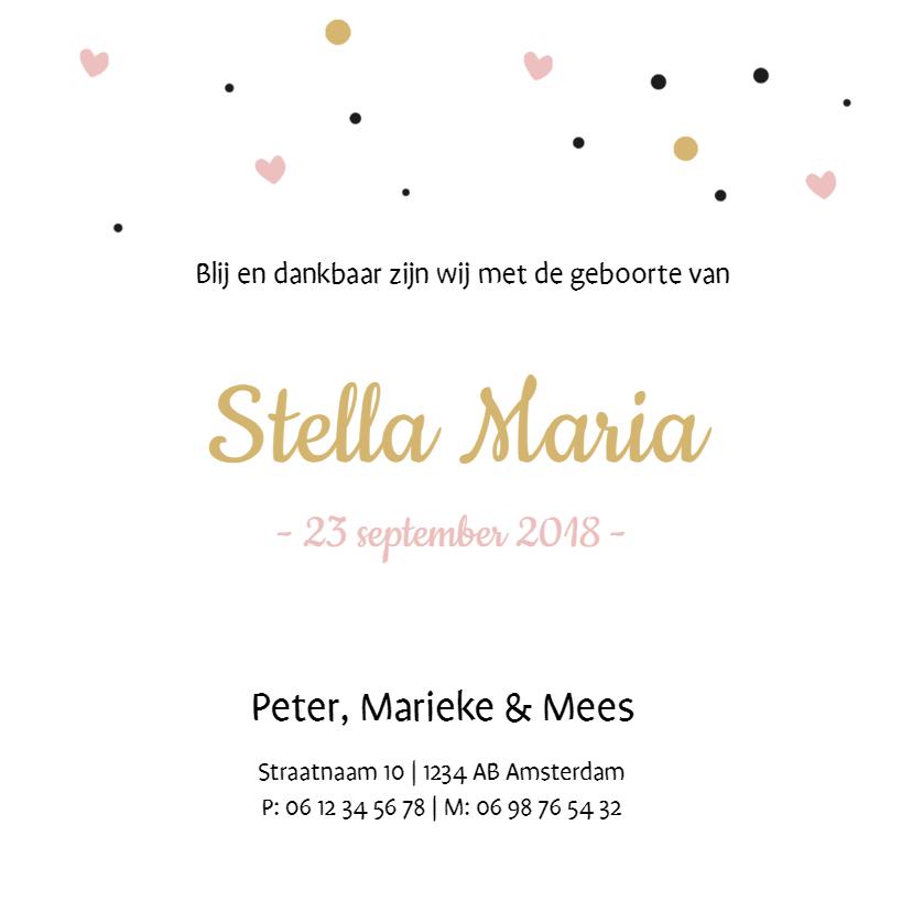 Geboortekaartje Stella  3