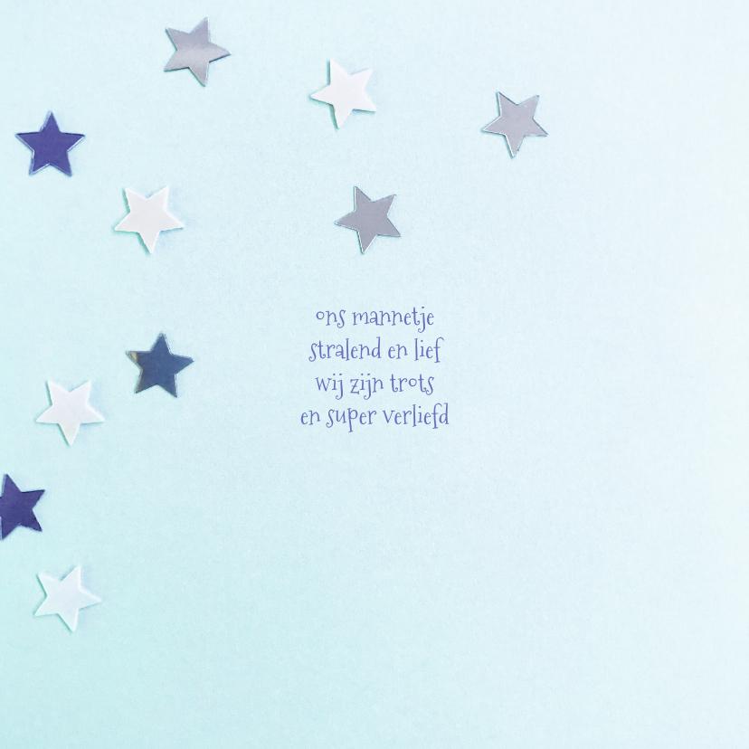 Geboortekaartje ster hip blauw 2