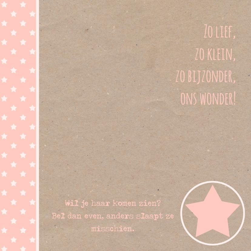 Geboortekaartje ster karton  2