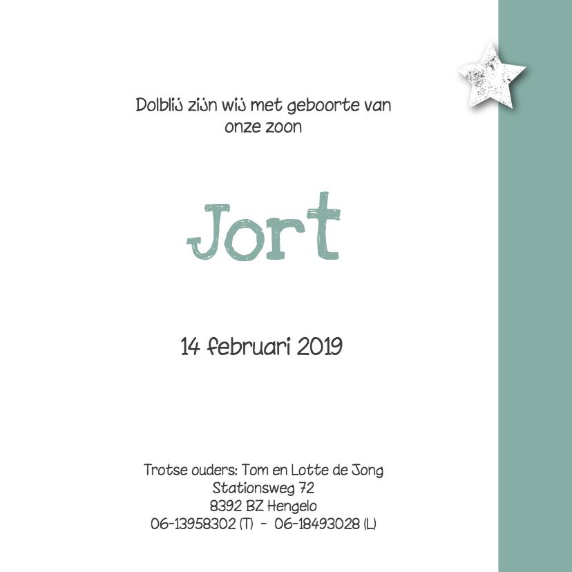 Geboortekaartje ster Jort - SK 3