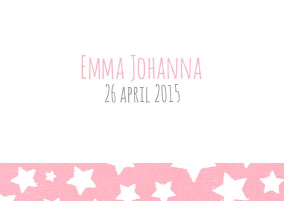 Geboortekaartje sterren Emma 3