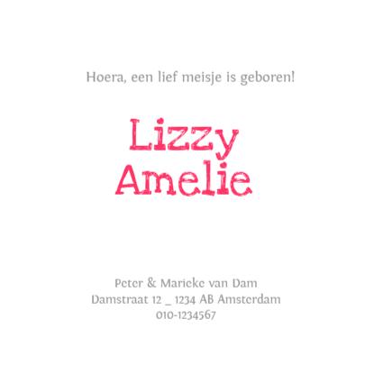 Geboortekaartje sterren Lizzy 3