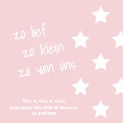 Geboortekaartje sterren - meisje 2