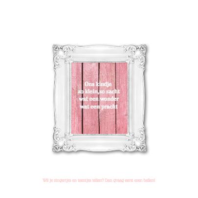 Geboortekaartje - Stijgerhout - roze 2