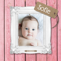 Geboortekaartjes - Geboortekaartje - Stijgerhout - roze