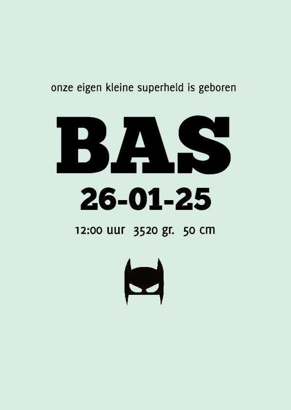 Geboortekaartje superheld 3