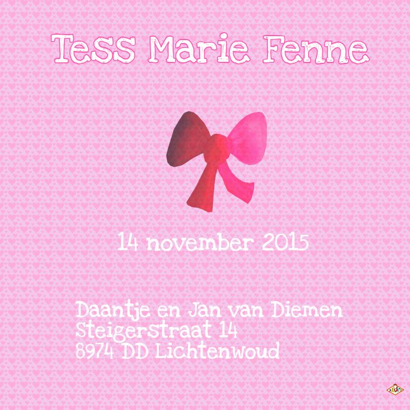 Geboortekaartje Tess PA 3