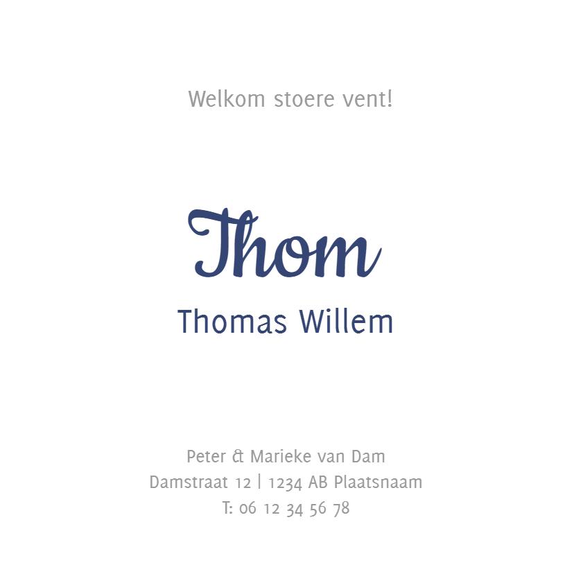 Geboortekaartje Thom LS 3