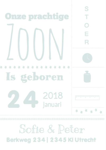 Geboortekaartje Typografie Mees 2