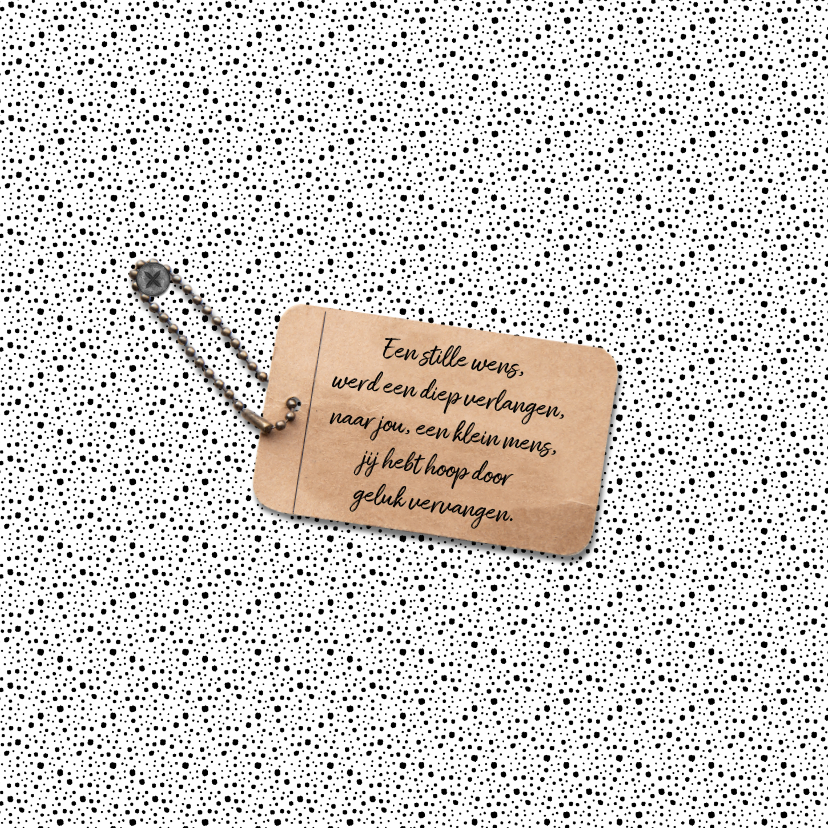Geboortekaartje unisex hip met label en eigen foto 2