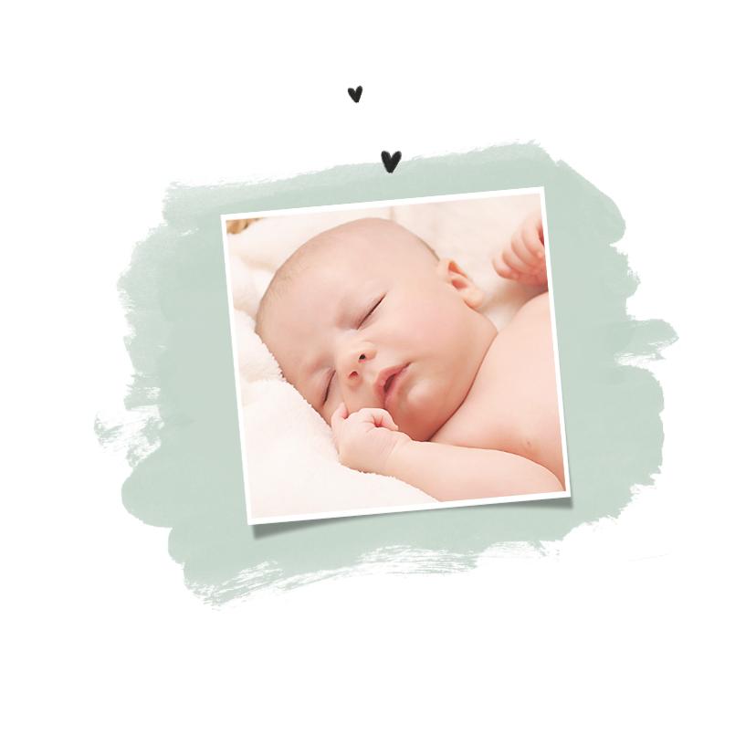 Geboortekaartje unisex met schattig geïllustreerd eendje 2