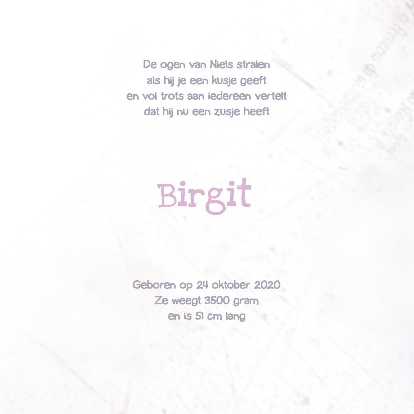 Geboortekaartje voetjes Meisje 2