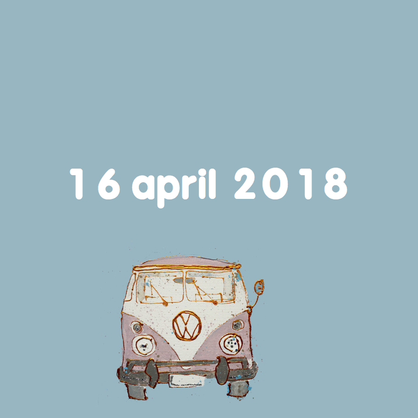 Geboortekaartje volkswagenbusje 2