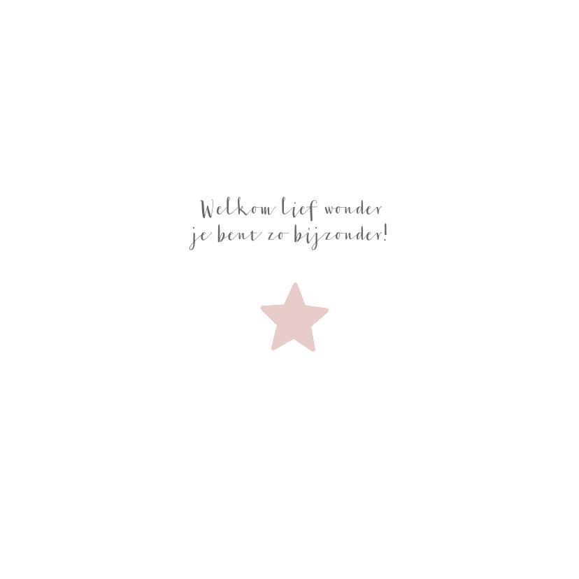 Geboortekaartje voor een dochter met sterren en stippen 2