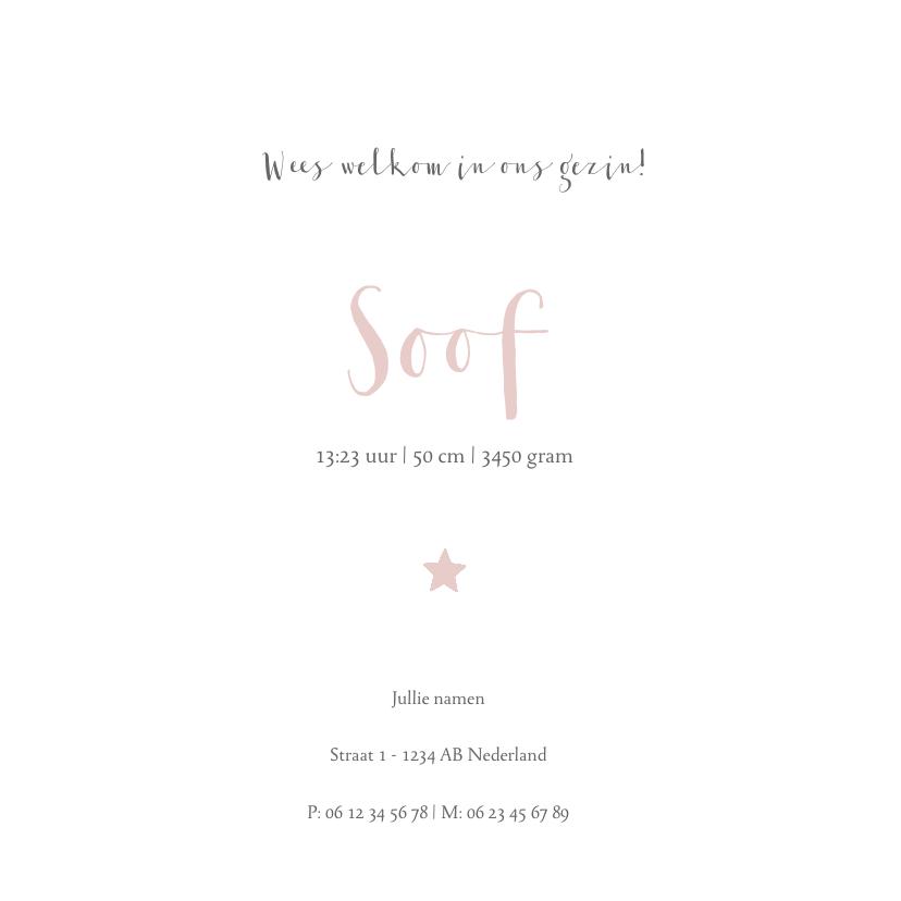 Geboortekaartje voor een dochter met sterren en stippen 3