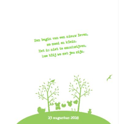 Geboortekaartje voor een Jongen Wereld 2