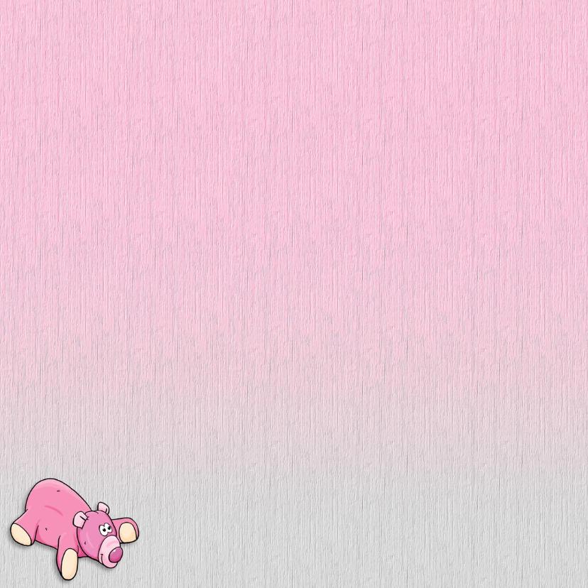 Geboortekaartje voor een meisje met knuffels en foto 2
