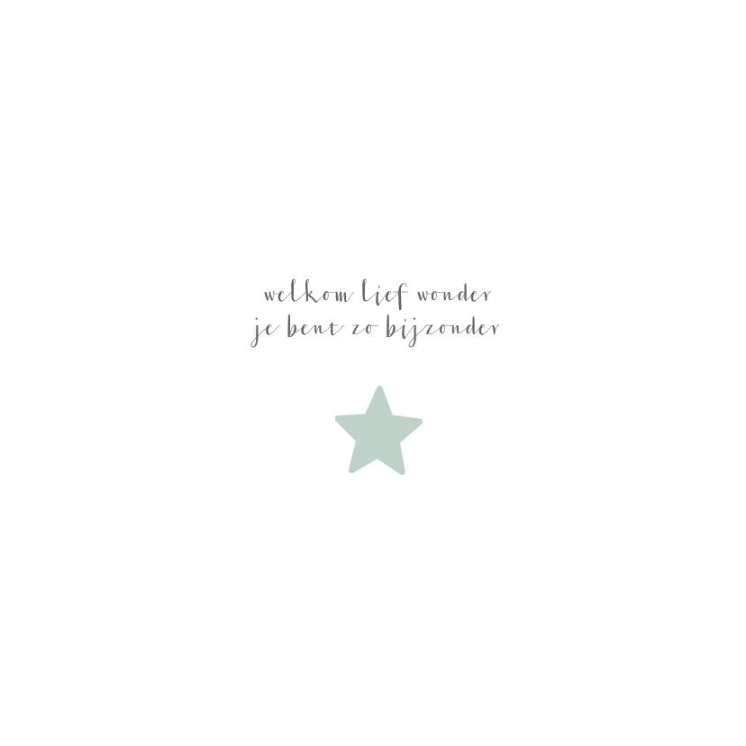 Geboortekaartje voor een zoon met sterren en stippen 2