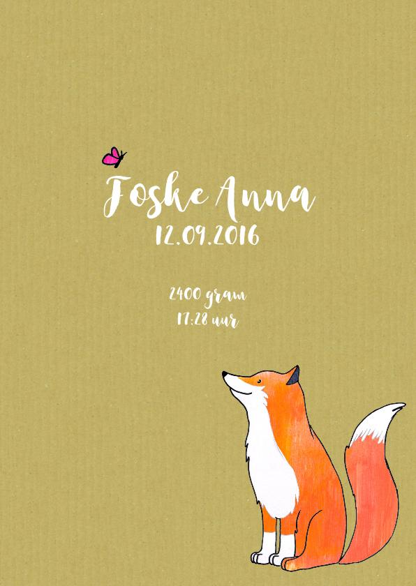 geboortekaartje vos Foske 3
