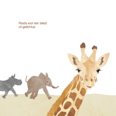 Geboortekaartje vrolijke giraf  2