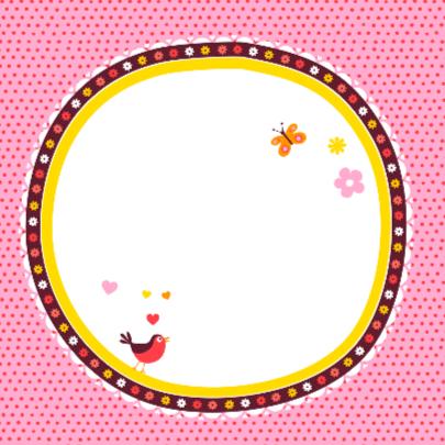 Geboortekaartje wiegje roze 2