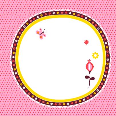 Geboortekaartje wiegje roze 3