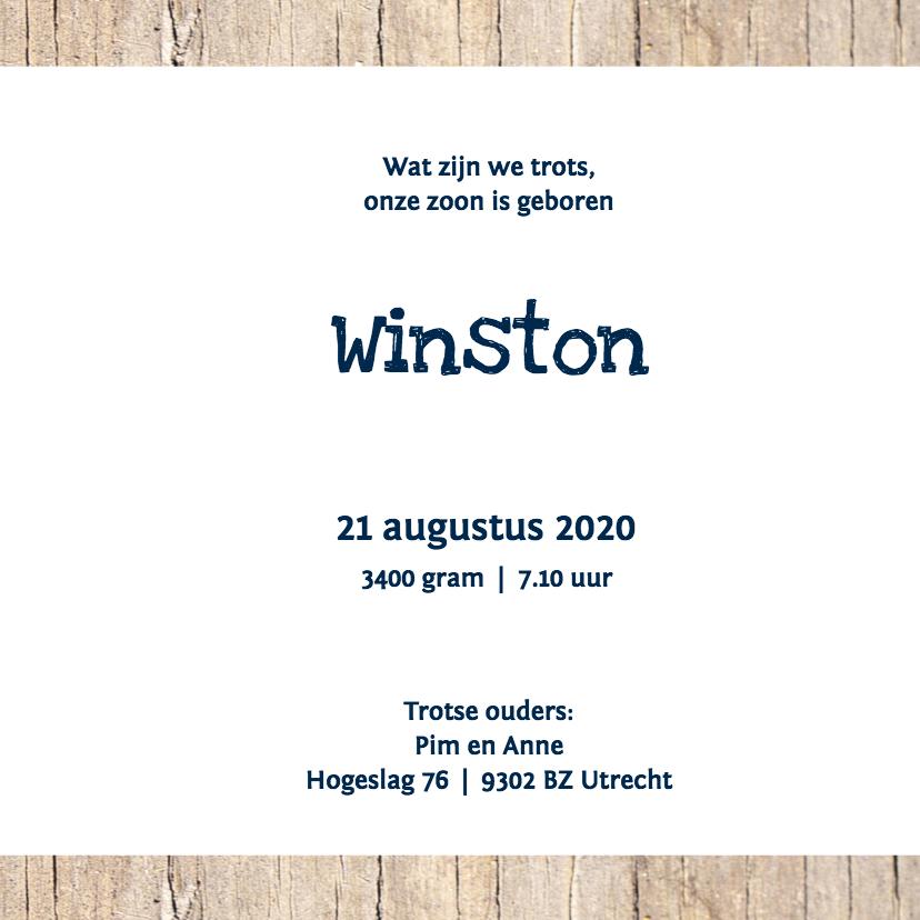 Geboortekaartje Winston 3