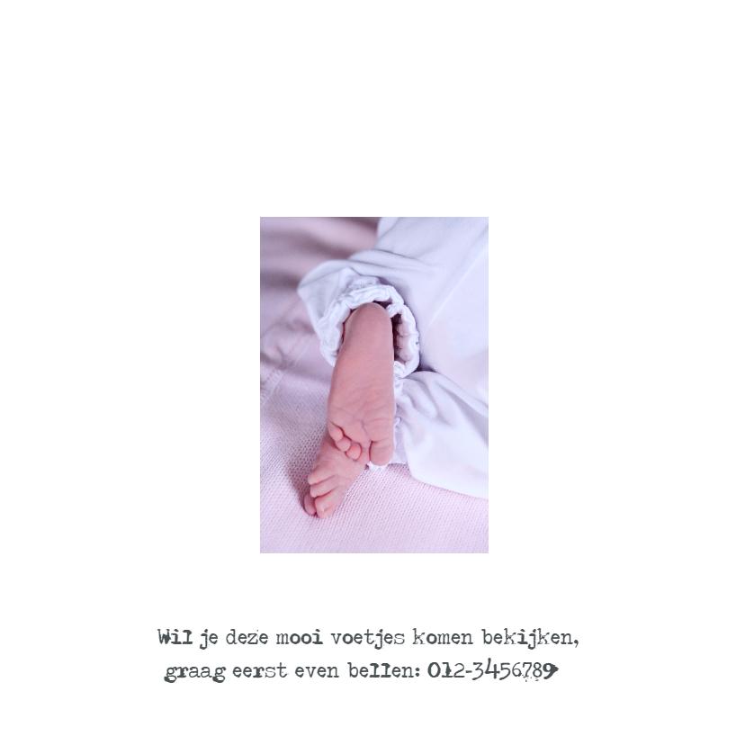 Geboortekaartje wit hout meisje 2