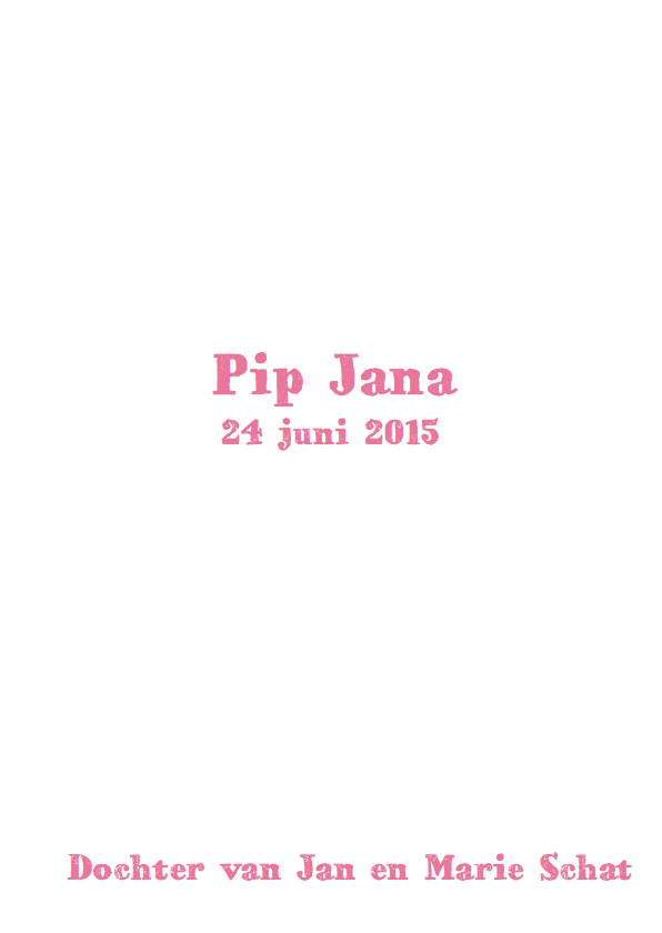 geboortekaartje wolk Pip 3