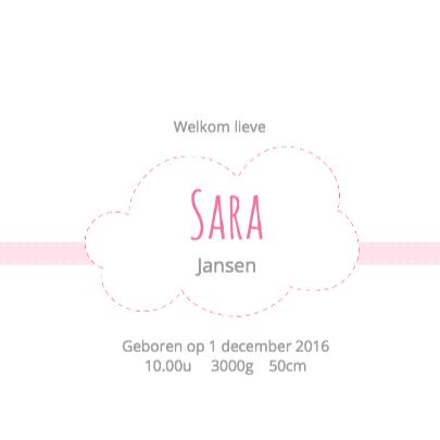 Geboortekaartje Wolk Sara - HB 3