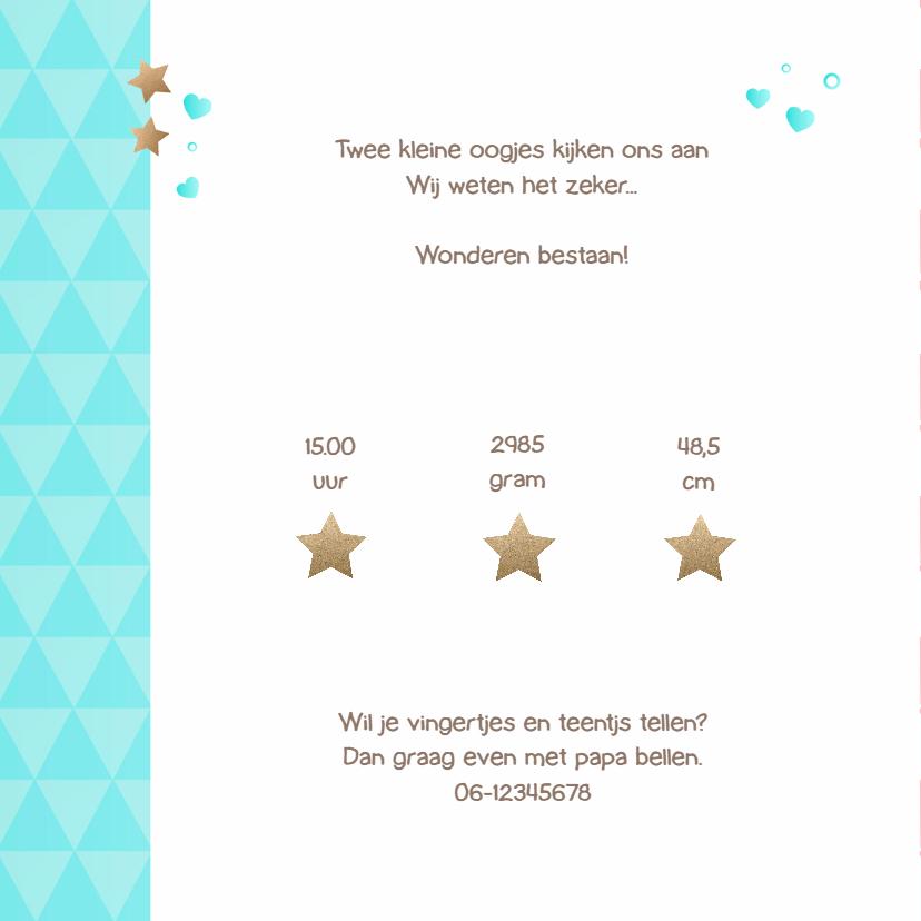 Geboortekaartje Wolkje & Sterren 2