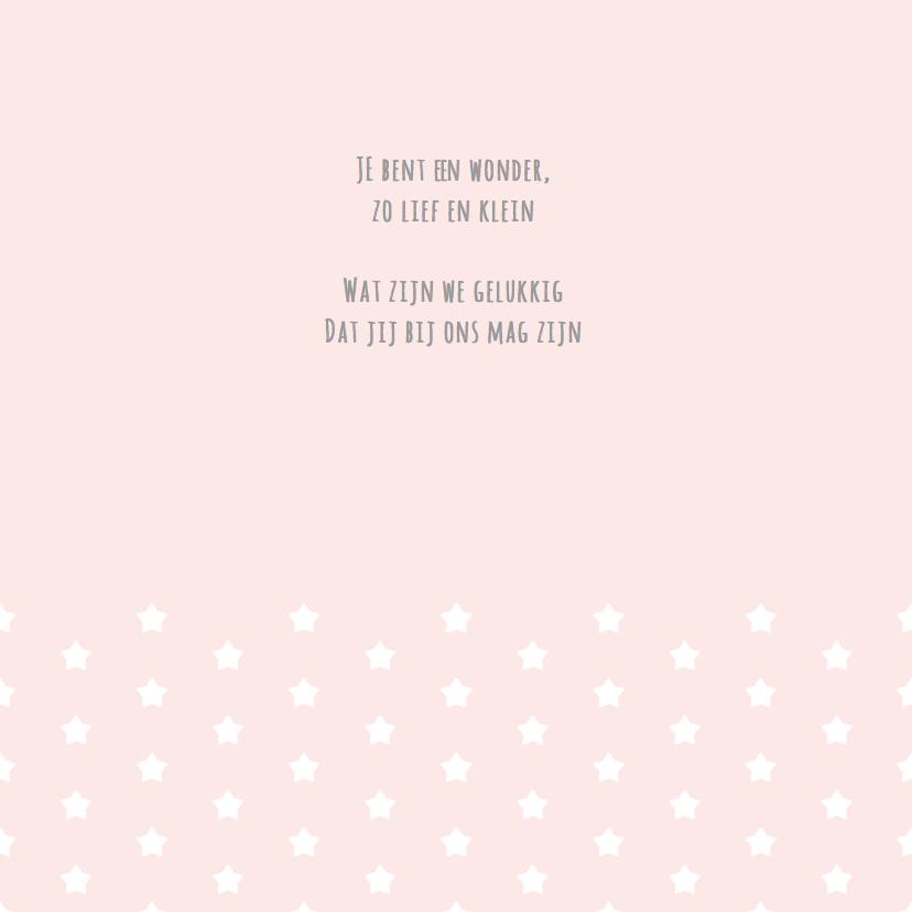 Geboortekaartje wolkje roze 2