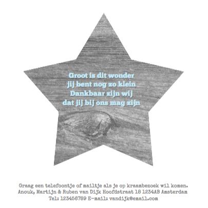 Geboortekaartje Wood&Stars Boy 3