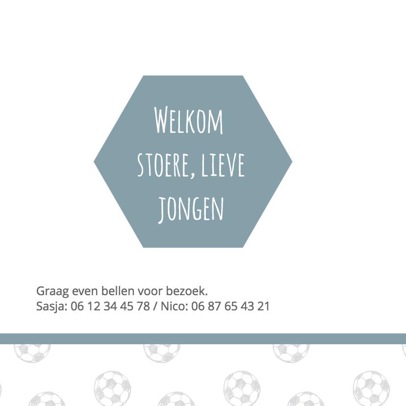 Geboortekaartje zeshoek voetbal 2