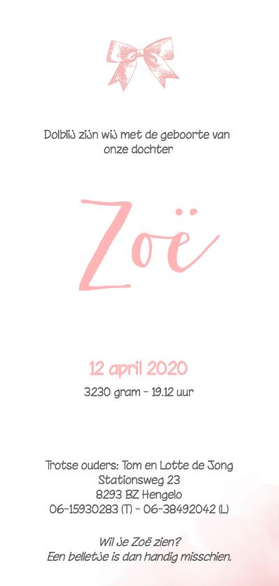 Geboortekaartje_Zoë_SK Achterkant