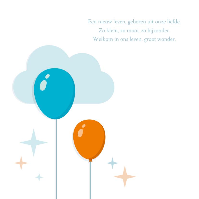 Geboortekaartje Zoon Ballonnen 2