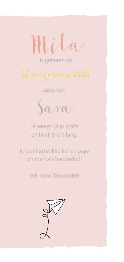 Geboortekaartje zusje op skate  3