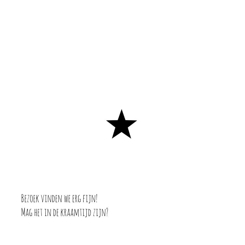 Geboortekaartje zwart wit - BC 2