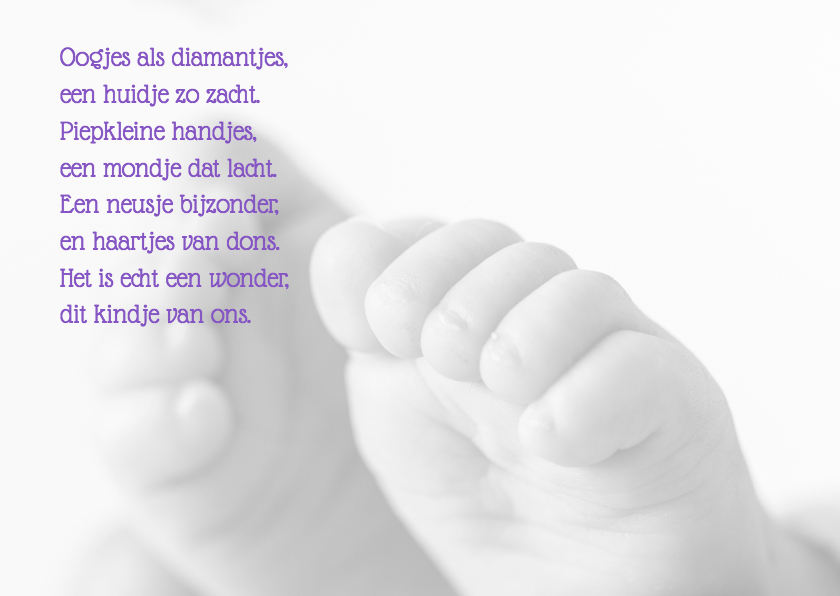 Geboortekaartjes Voetjes MM 2