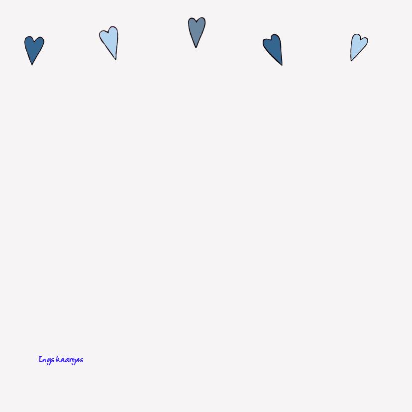 Geboortkaart vlinder blauw 2