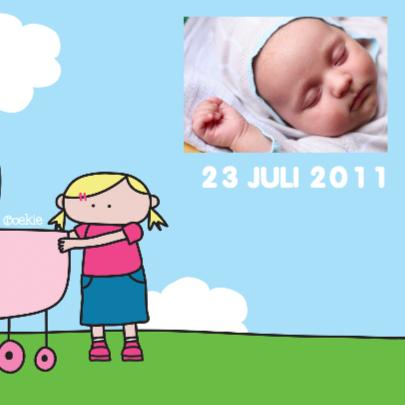 Geboortkaartje Grote Zus 2