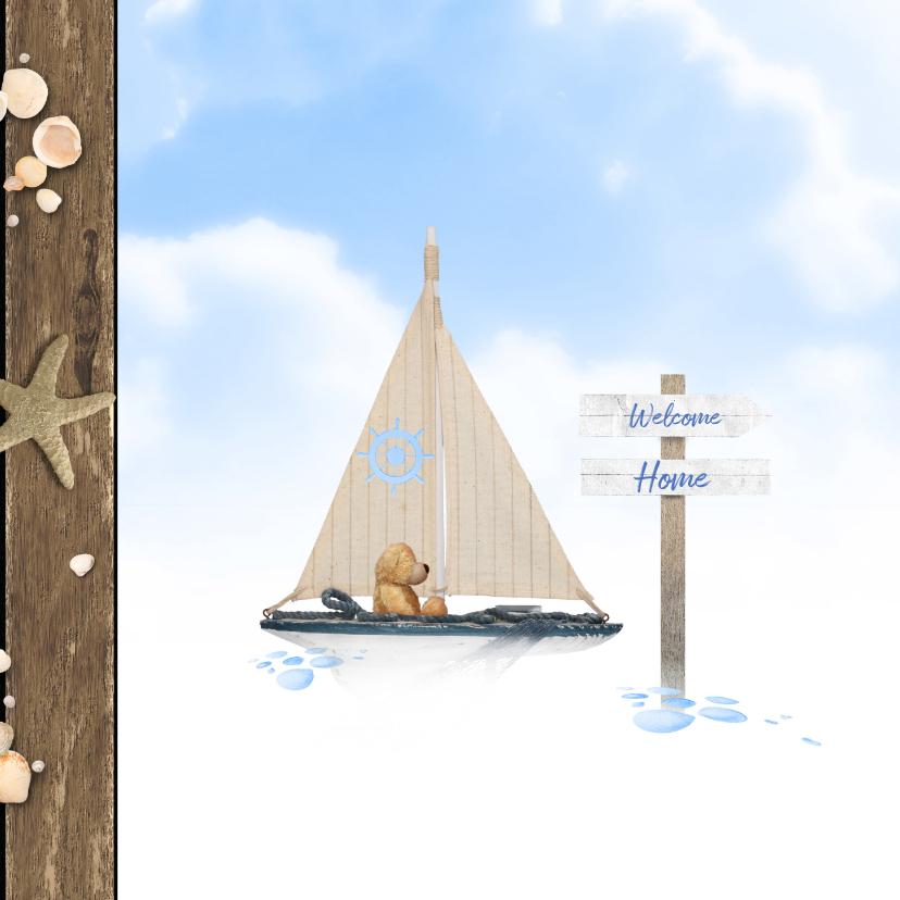 Geboren beer en zeilboot op zee 2