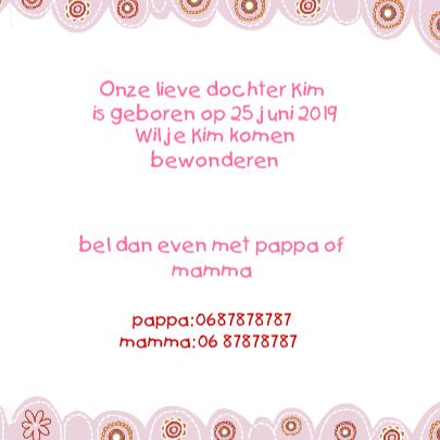 Geboren een meisje met uiltje 3